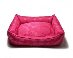Hundebett.Barock.Pink