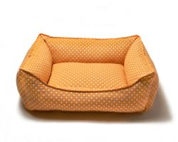 Hundebett.Dots.Orange