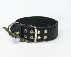 Lederhalsband schwarz