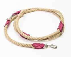 Leine Tauwerk Leder Pink