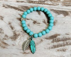 Armband *Festival* Blue Feather